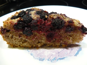 Katty's Kitchen, Katty's black raspberry pecan cake